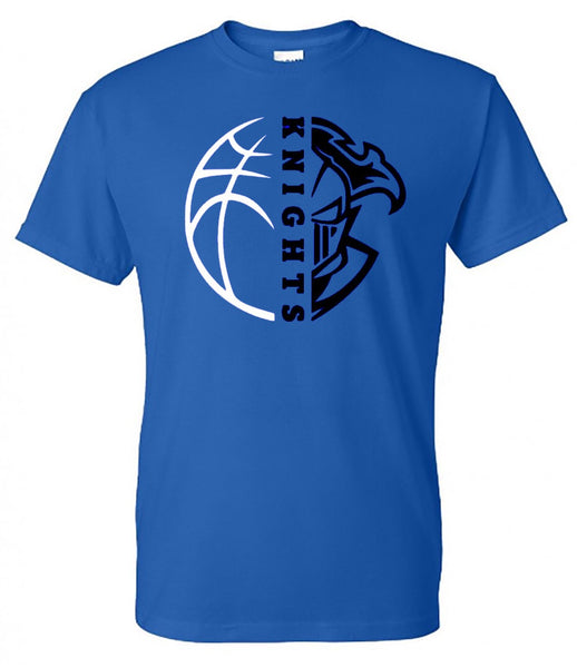 windsor knights basketball - royal tee