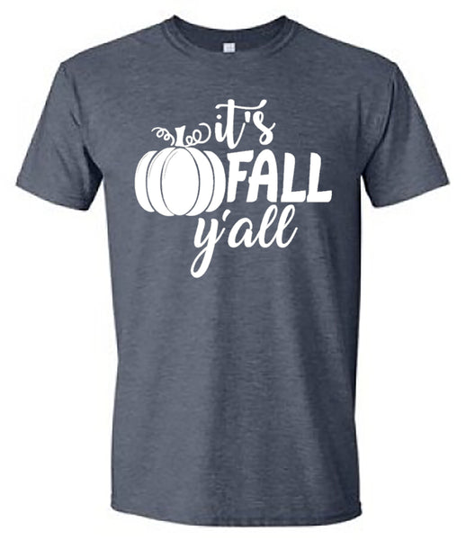 It's Fall Y'all - Heather Short-Sleeves Tee southern grace creations