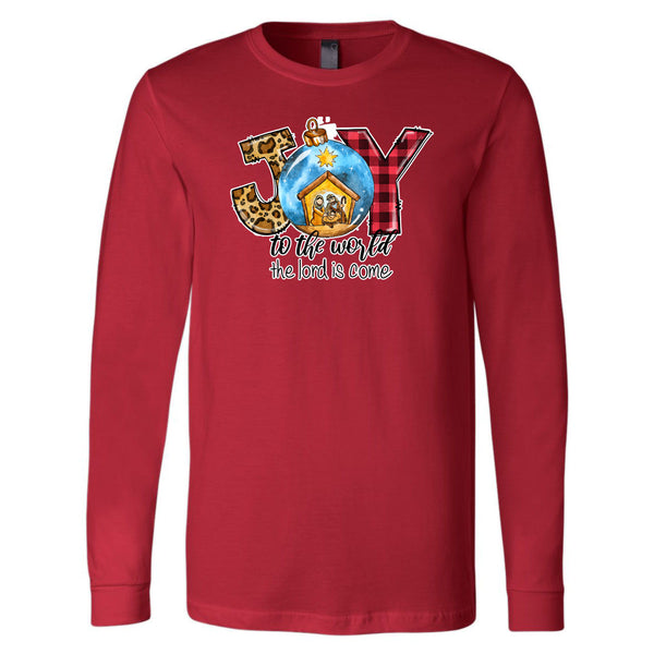 Joy To The World The Lord Is Come - Red Longsleeve Tee