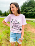 Let Us Not Love With Words Tee - Lilac