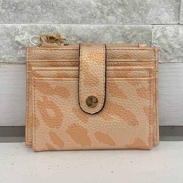 Cheetah Rose Mini Snap Wallet