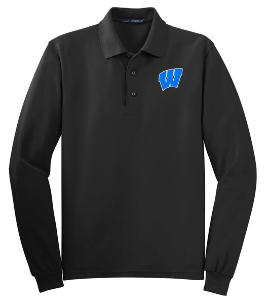 Windsor - ADULT Long Sleeve Polo - BLACK (K500LS)