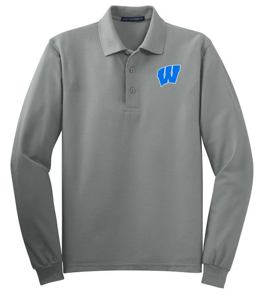 Windsor - ADULT Long Sleeve Polo - COOL GREY (K500LS)