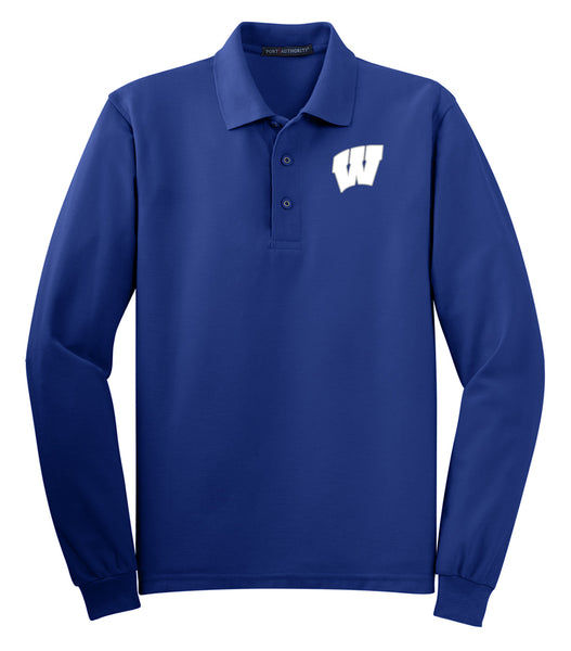 Windsor - ADULT Long Sleeve Polo - ROYAL (K500LS)