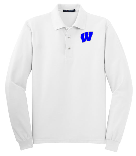 Windsor - ADULT Long Sleeve Polo - WHITE (K500LS)
