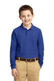 Windsor - YOUTH Long Sleeve Polo - ROYAL (Y500LS)