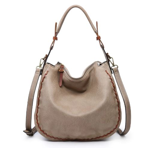 Day Dreamin' Whipstitch Bag - Taupe