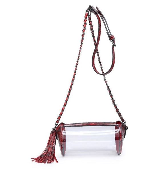 Stadium Bag - Red/Black Snake Print