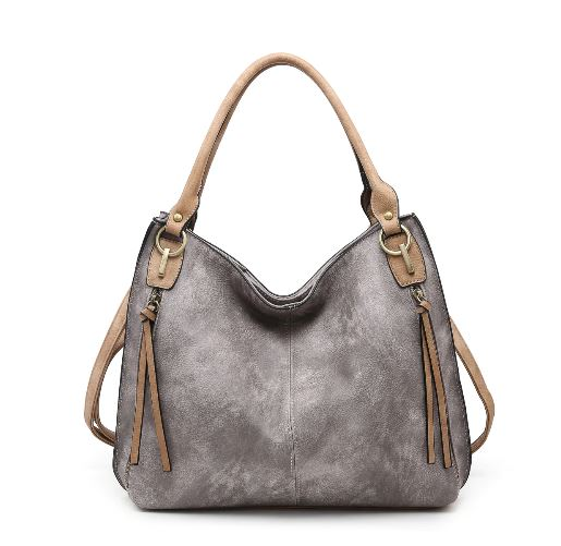 Saved By Grace Purse - Grey