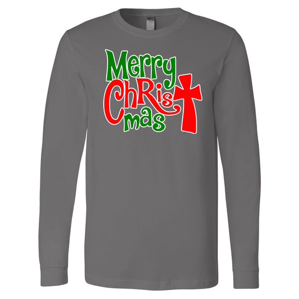 Merry CHRISTmas - Gray Longsleeve Tee