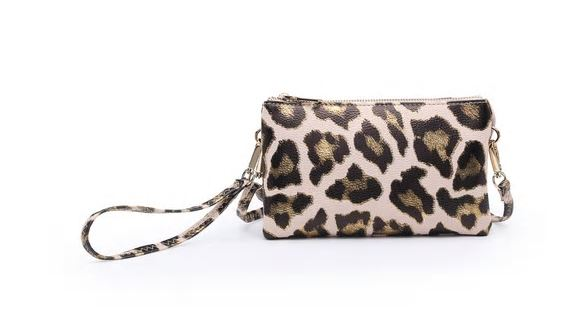Metallic Leopard Crossbody