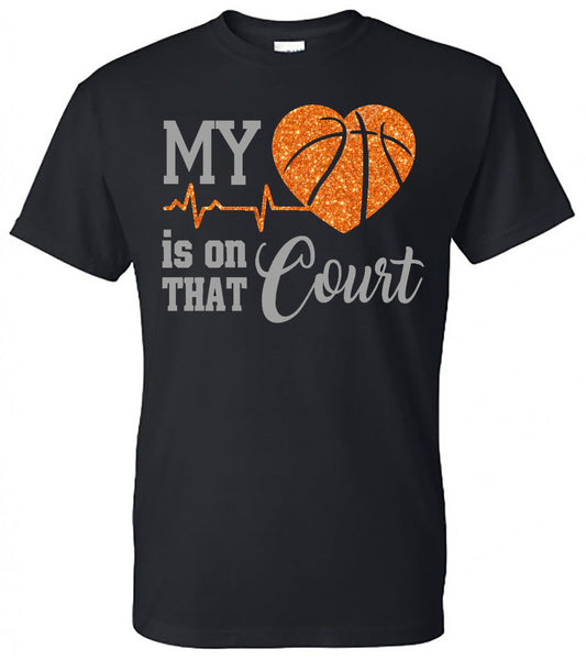 """My Heart is on That Court"" Tee"