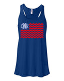 Monogrammed America the Great Racerback Tank - Southern Grace Creations