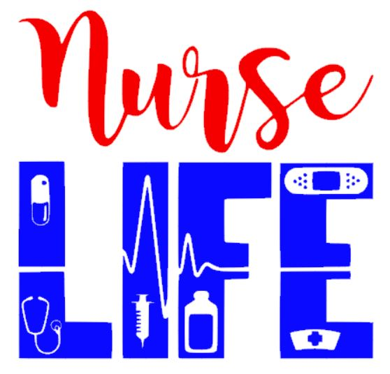 """Nurse Life"" Decal - southern-grace-creations"