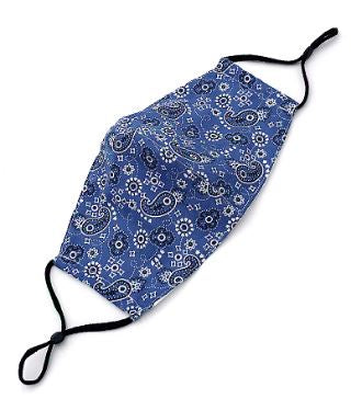 Paisley Mask in Blue