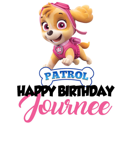 Paw Patrol Inspired Birthday Girl Shirt - Southern Grace Creations