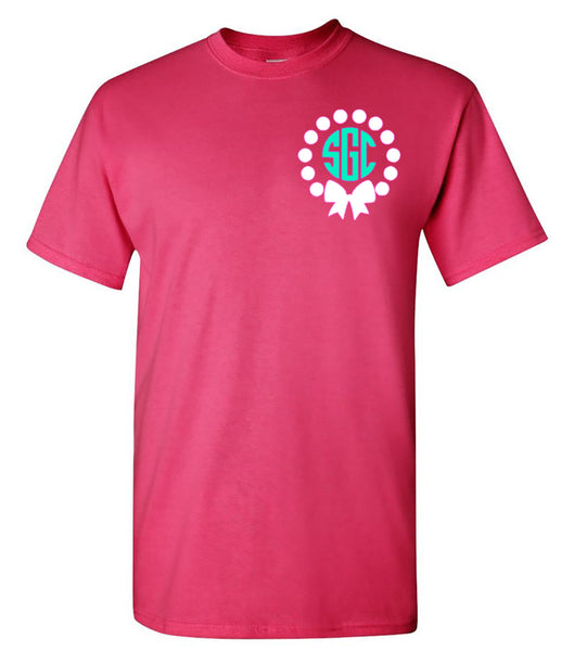 Pearls & Bow Monogram Tee