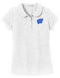 Windsor - Girls Peter Pan Collar Polo - White (YG503)