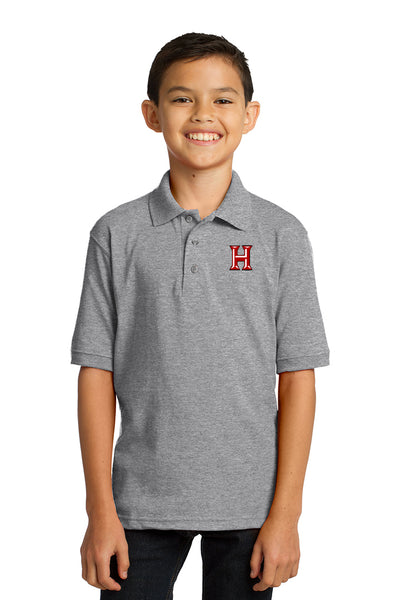 Howard - Youth Polo - Athletic Heather