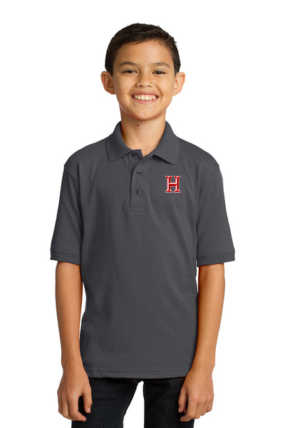 Howard - Youth Polo - Charcoal (kp55y)