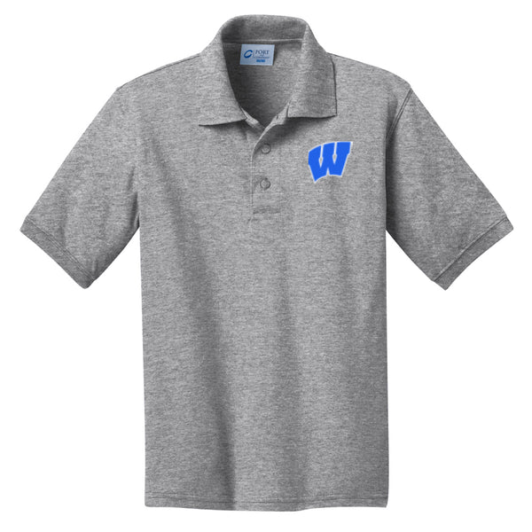 Windsor - Youth Polo - Athletic Heather (KP55Y)