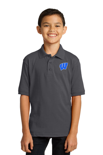 Windsor - Youth Polo - Charcoal (KP55Y)