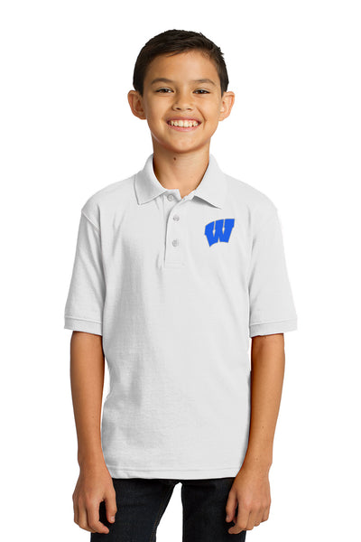 Windsor - Youth Polo - White (KP55Y)