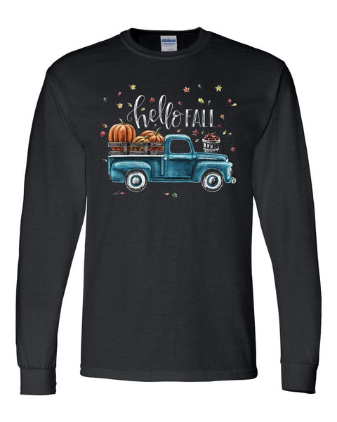 Pumpkin Truck Shirt - Black Tee southern grace creations