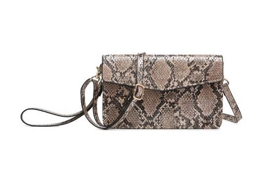 Python Bronze Touchscreen Crossbody