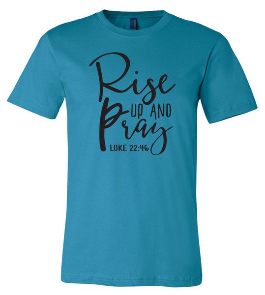Rise Up and Pray - Aqua Southern Grace Creations