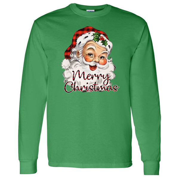 Santa Head Merry Christmas Tee