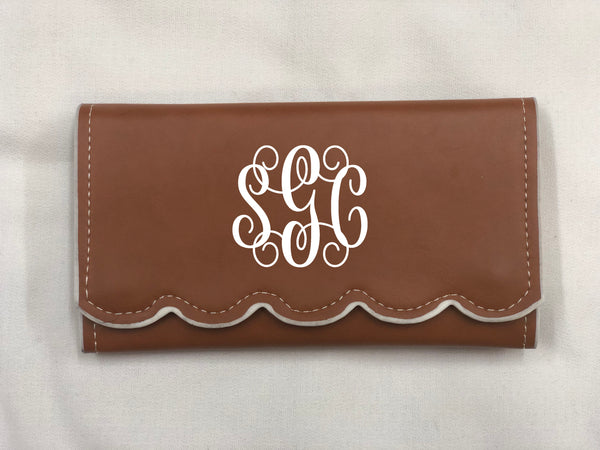 Scalloped Wallet - Light Brown