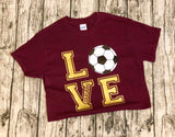 Soccer LOVE southern grace creations