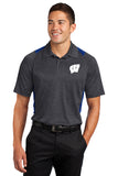 Windsor - Sport-Tek Heather Colorblock Contender Polo - Graphite Heather/True Royal (ST665) southern grace creations