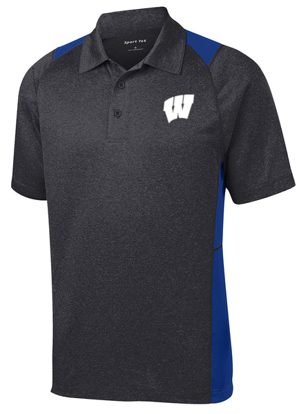 Windsor - Sport-Tek Heather Colorblock Contender Polo - Graphite Heather/True Royal (ST665)