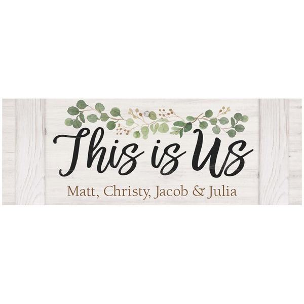 This Is Us Faux Wood Sign