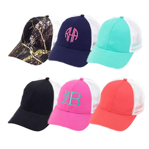Monogrammed Trucker Hat - Southern Grace Creations