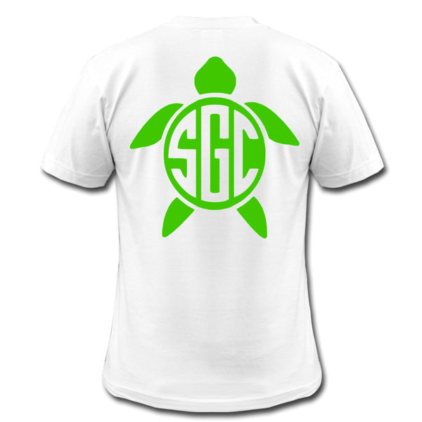 Turtle Monogrammed Tee - Southern Grace Creations