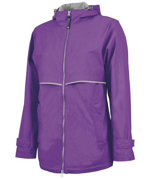 Women's Monogrammed New Englander Rain Jacket - Southern Grace Creations