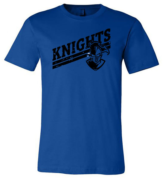 Windsor - Knights Distressed Slanted - All Black - Royal (Tee/Hoodie/Sweatshirt)