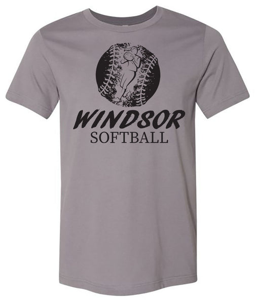 Windsor - Softball Distressed with Player Windsor Softball - Storm (Tee/Hoodie/Sweatshirt)