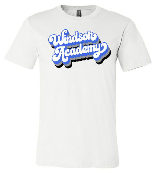 Windsor - Windsor Academy with Drop Shadow - White (Tee/Hoodie/Sweatshirt)