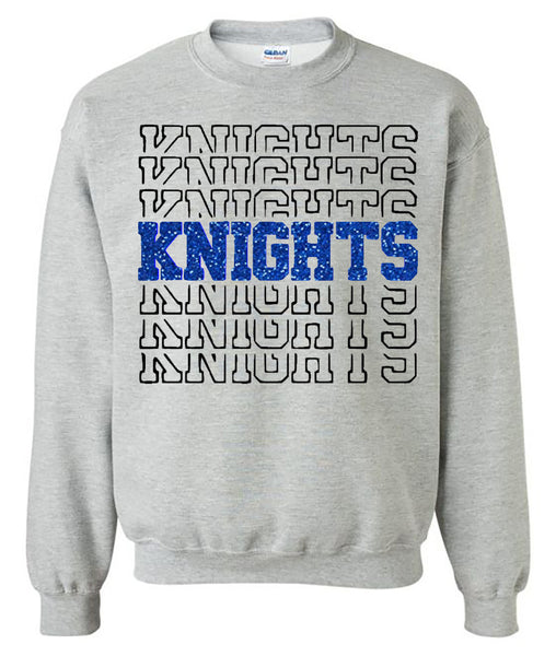 Windsor - Knights Knights Knights Half - Sport Grey Sweatshirt southern grace creations