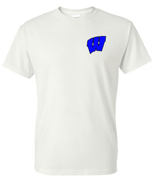 windsor - we are the knights (script font) - white tee