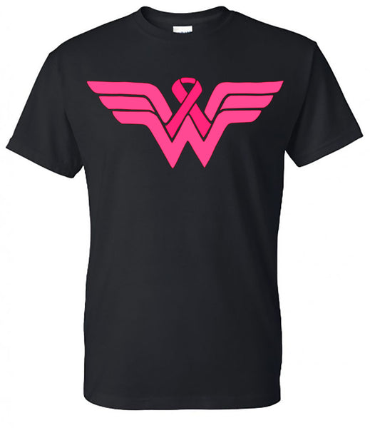 Wonder Woman Breast Cancer Tee - Southern Grace Creations