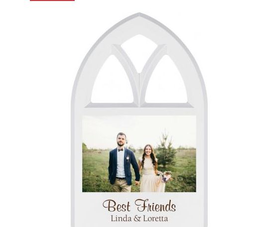 White Window Photo Frame 4X6