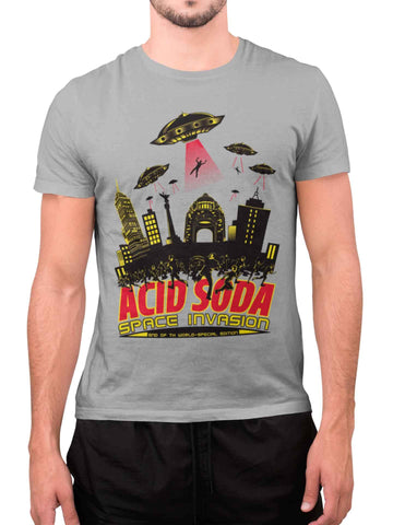 Playera Manga Corta Space Invasion (Hombre) - Acid Soda