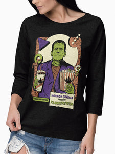 Playera Manga Larga Frankenstein (Mujer) - Acid Soda