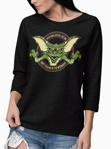 Playera Manga Larga Midnight Creature (Mujer)