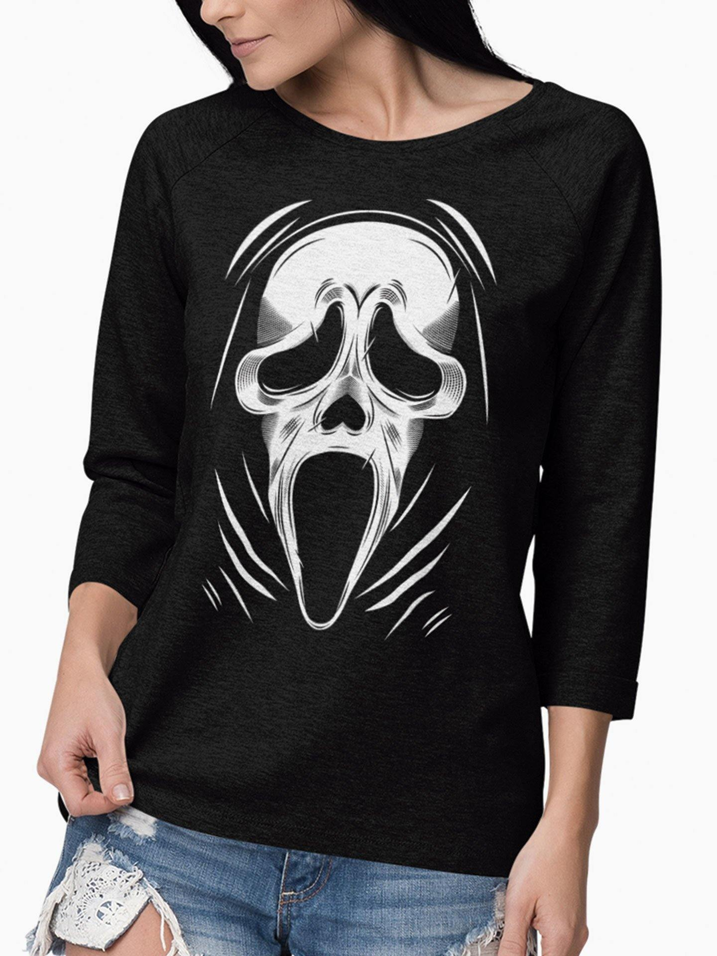 Playera Manga Larga Scream (Mujer)